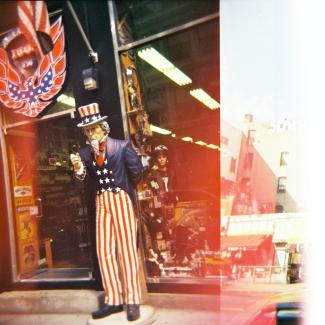 Picture of Uncle Sam figure in front of a business